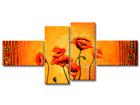 Neliosainen seinätaulu UNIKOT 160x70 cm ED-86579