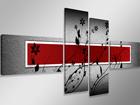Neliosainen seinätaulu PUNAINEN SEINÄ 160x70 cm ED-86587