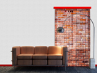 Fotoverho RED BRICKS 140x245 cm