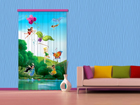 Puolipimentävä fotoverho DISNEY FAIRIES WITH RAINBOW 140x245 cm ED-87416