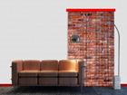 Puolipimentävä fotoverho RED BRICKS 140x245 cm ED-87450