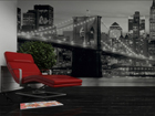 Kuvatapetti BROOKLYN BRIDGE BLACK AND WHITE 360x254 cm