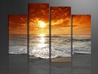Neljaosaline seinapilt Päikeseloojang 130x80 cm