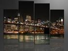 Neliosainen seinätaulu AMERIKAN VALOT 130x80 cm
