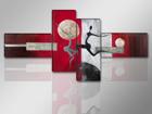 Neliosainen seinätaulu MODERNI 195x80 cm
