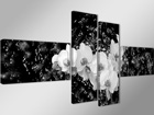 Neliosainen seinätaulu ORKIDEA VEDESSÄ 70x160 cm