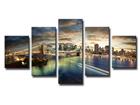 Viisiosainen seinätaulu NEW YORK 100x50 cm