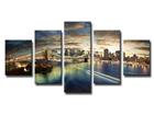 Viisiosainen seinätaulu NEW YORK 160x80 cm