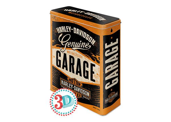 Жестяная коробка 3D Harley-Davidson Garage 4 л