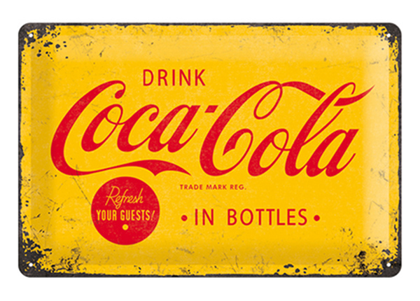 Retro metallposter Coca-Cola In Bottles 20x30 cm SG-89717