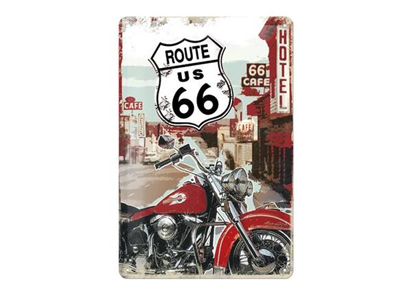 Retro metallposter Route 66 Lone Rider 20x30 cm SG-89725