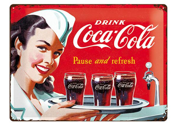 Металлический постер в ретро-стиле Coca-Cola Pause and Refresh 30x40 cm
