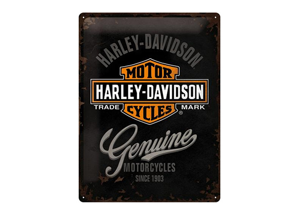 Retro metallijuliste Harley-Davidson Genuine logo 30x40 cm SG-89733