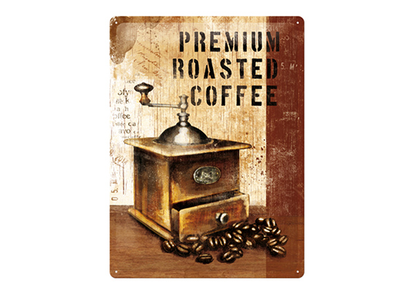 Retro metallposter Premium Roasted Coffee 30x40 cm SG-89737
