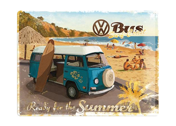 Retro metallposter VW Bus Ready For The Summer 30x40 cm SG-89742