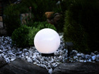 Садовая лампа с солнечной панелью 25 см