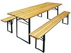 Kokkuklapitav aiamööbel, laud 50x220 cm + 2 pinki