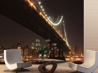 Fliis-fototapeet Bridge at night 360x270 cm ED-90568