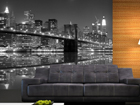 Fleece kuvatapetti NEW YORK IN BLACK AND WHITE 360x270 cm
