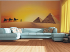 Fleece-kuvatapetti CARAVAN IN THE DESERT 360x270 cm ED-90623