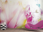 Fliis-fototapeet Light flowers 360x270 cm