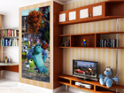Fliis-fototapeet Disney Monsters 90x202 cm ED-90981