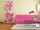 Fliis-fototapeet Pink orchids 90x202 cm