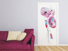 Fleece kuvatapetti WATERCOLOR POPPIES 90x202 cm ED-91145