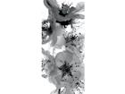 Fliis-fototapeet Black and white flower 90x202 cm