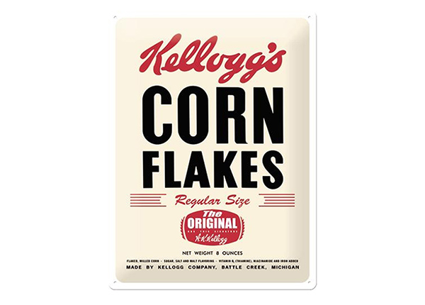 Металлический постер в ретро-стиле Kellogg's Corn Flakes The Original 30x40 см SG-91848