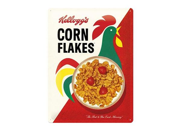 Металлический постер в ретро-стиле Kellogg's Corn Flakes Cornelius 30x40 см SG-91849