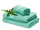Бамбуковое полотенце бирюзового цвета