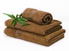 Комплект бамбуковых полотенец, коричневый