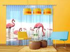 Pimendav fotokardin Flamingos 280x245 cm