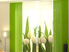 Läbipaistev paneelkardin White Tulips 240x240 cm
