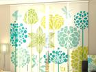 Läpinäkyvä paneeliverho GRAPHIC FLOWERS 240x240 cm