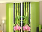 Läpinäkyvä paneeliverho ORCHIDS AND BAMBOO 3, 240x240 cm