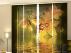 Läpinäkyvä paneeliverho NEPHRITE ORCHIDS 240x240 cm