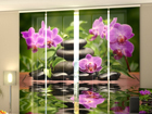 Läbipaistev paneelkardin Orchids in the Garden 240x240 cm