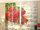 Poolpimendav paneelkardin Roses and Notes 240x240 cm ED-97618