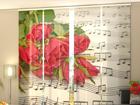 Полузатемняющая панельная штора Roses and Notes 240x240 см
