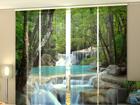 Läbipaistev paneelkardin Thai Waterfall in Spring 240x240 cm