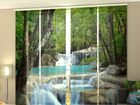 Pimentävä paneeliverho THAI WATERFALL IN SPRING 240x240 cm ED-97638