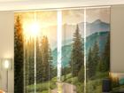 Полузатемняющая панельная штора Sun and Mountains 240x240 cm