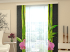 Läbipaistev paneelkardin Orchids and Bamboo 80x240 cm