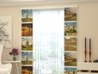 Läbipaistev paneelkardin Paris Kollage 80x240 cm
