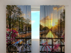 Läpinäkyvä verho BEAUTIFUL SUNRISE OVER AMSTERDAM 240x220 cm