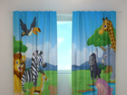 Poolpimendav kardin Cute African animals 240x220 cm ED-97927