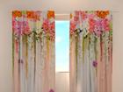 Полузатемняющая штора Flower lambrequins pink spring 240x220 см
