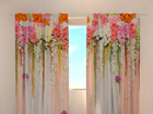 Poolpimendav kardin Flower lambrequins pink spring 240x220 cm
